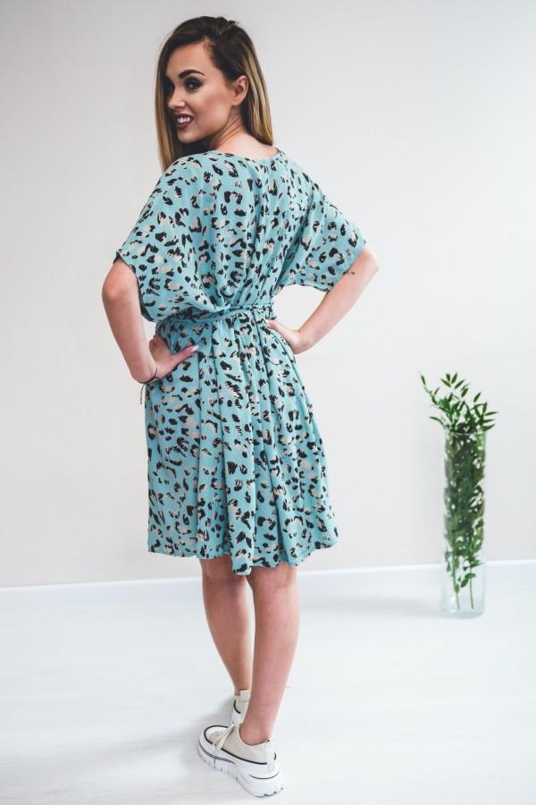 sukienka panterka seledynowa 7