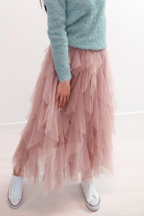 spodnica tiulowa falbanki roz