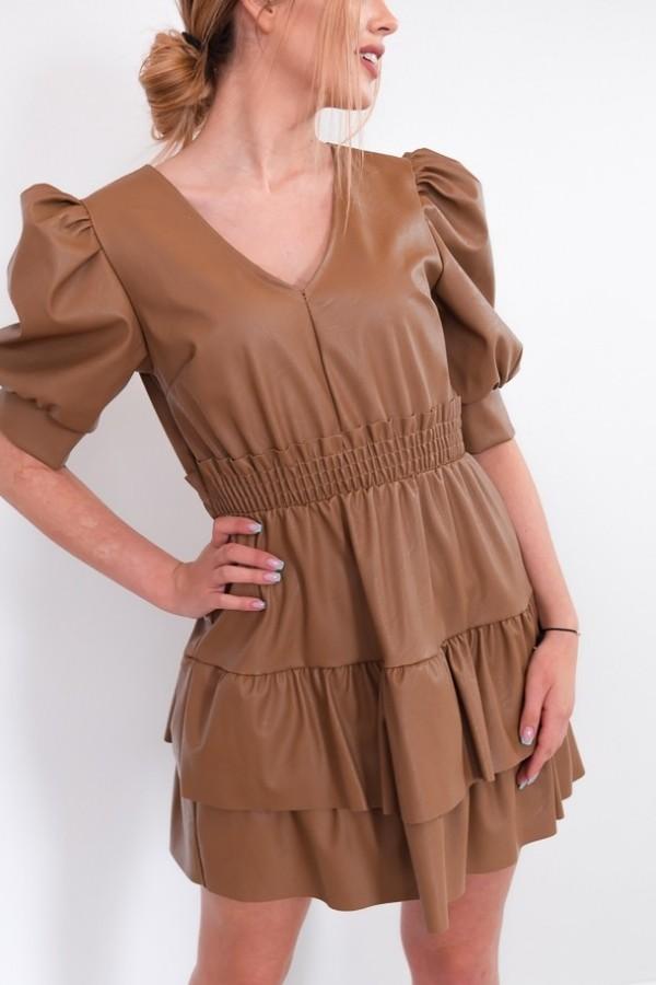 sukienka karmelowa