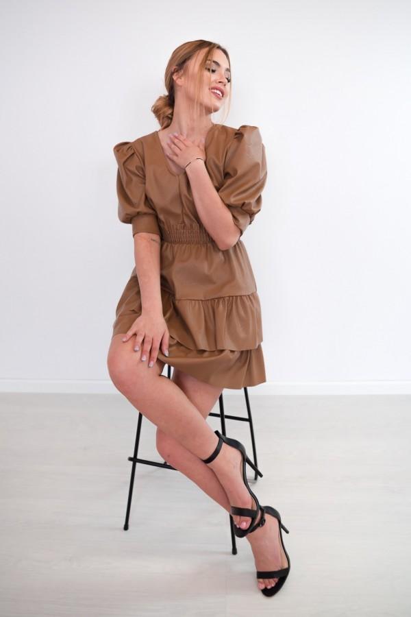 sukienka karmelowa 8