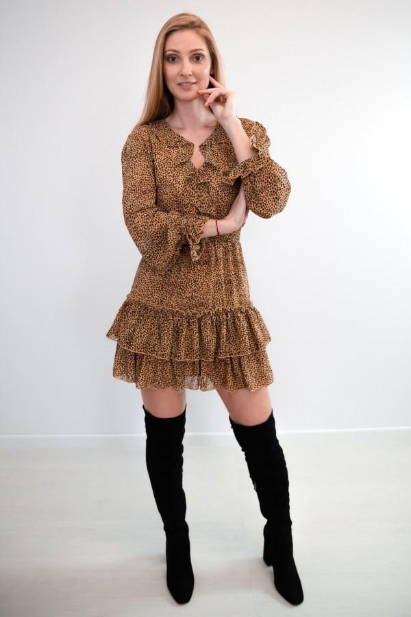 sukienka falbanka panterka 1