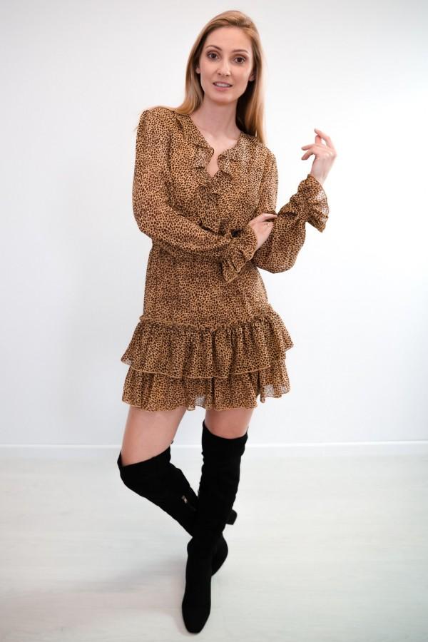sukienka falbanka panterka 2
