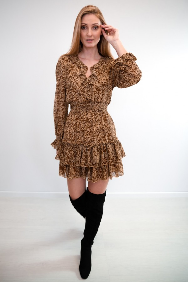 sukienka falbanka panterka 3