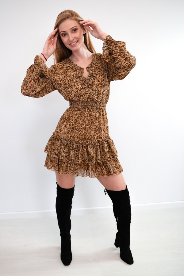 sukienka falbanka panterka 4