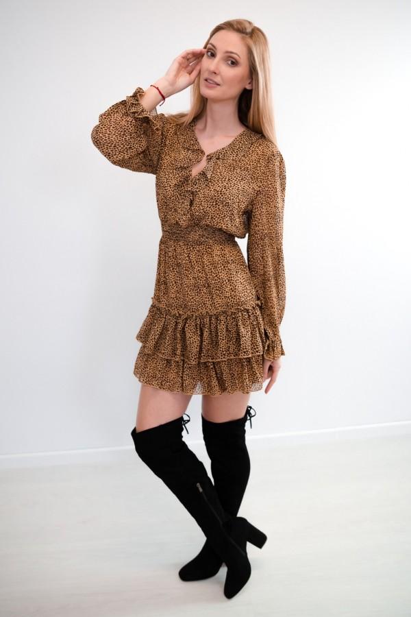 sukienka falbanka panterka 5