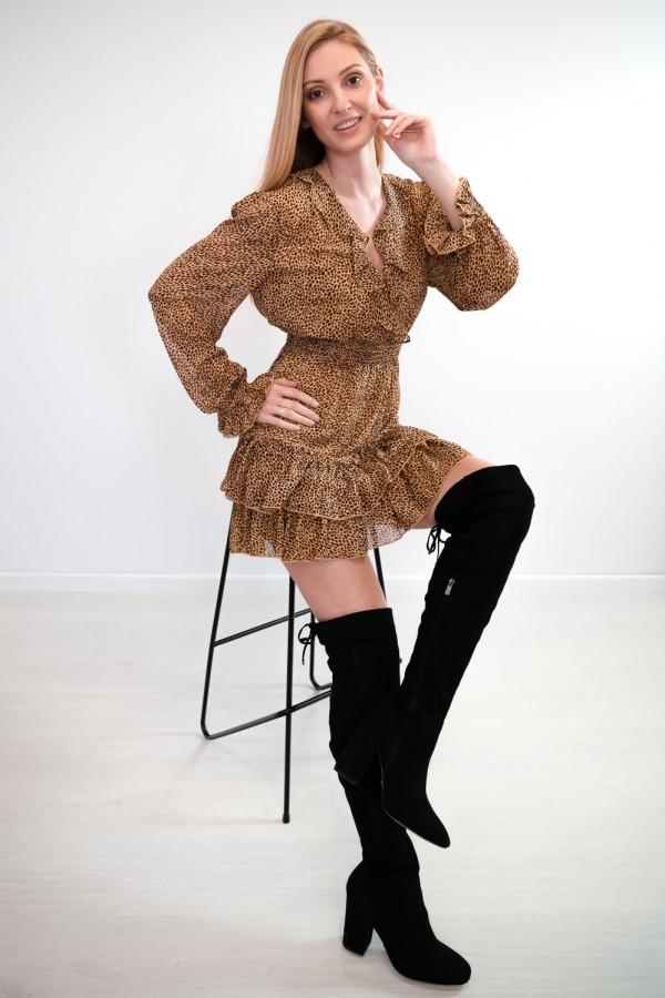 sukienka falbanka panterka 8