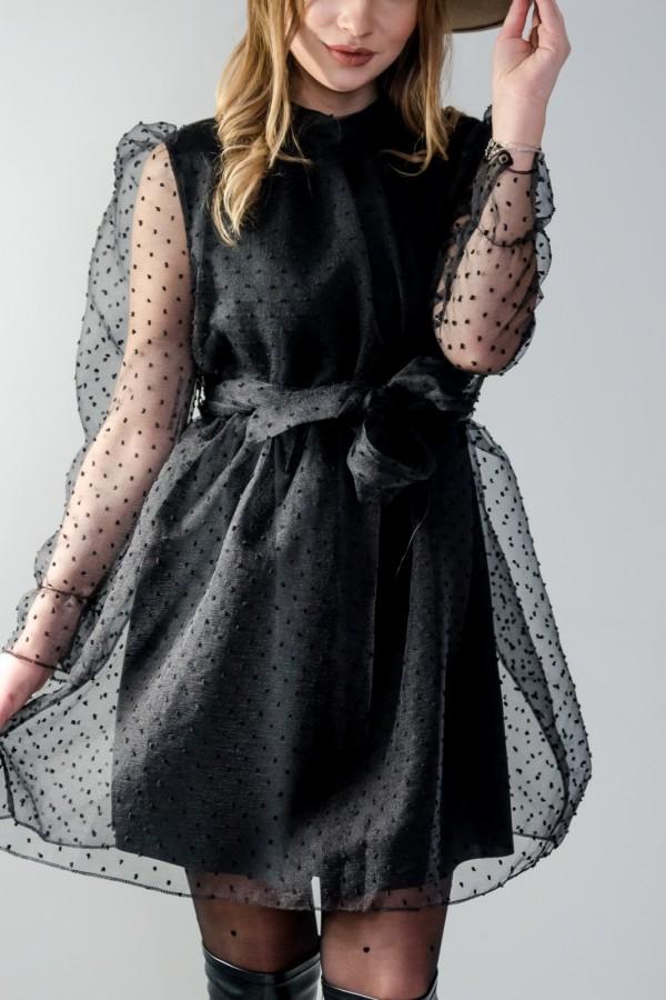 sukienka tiul czarna