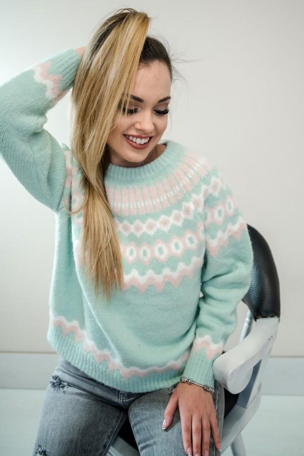 Sweter pastelowy mięta
