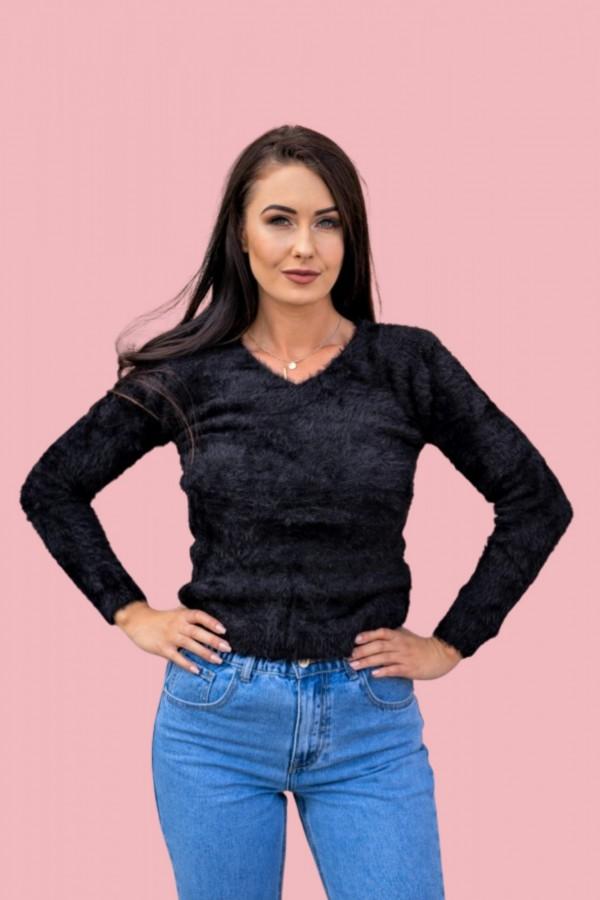 Sweter alpaka czarny