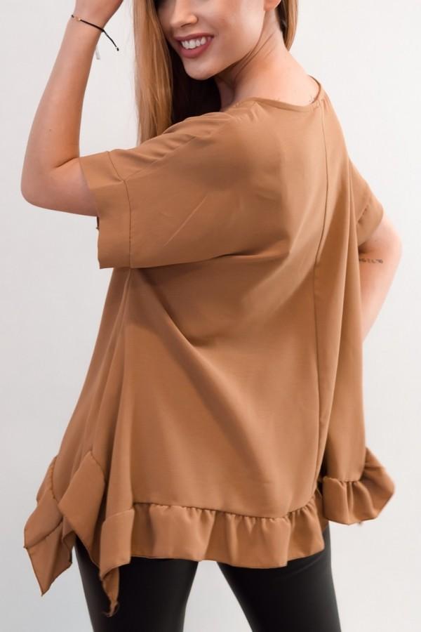 bluzka camel falbanki