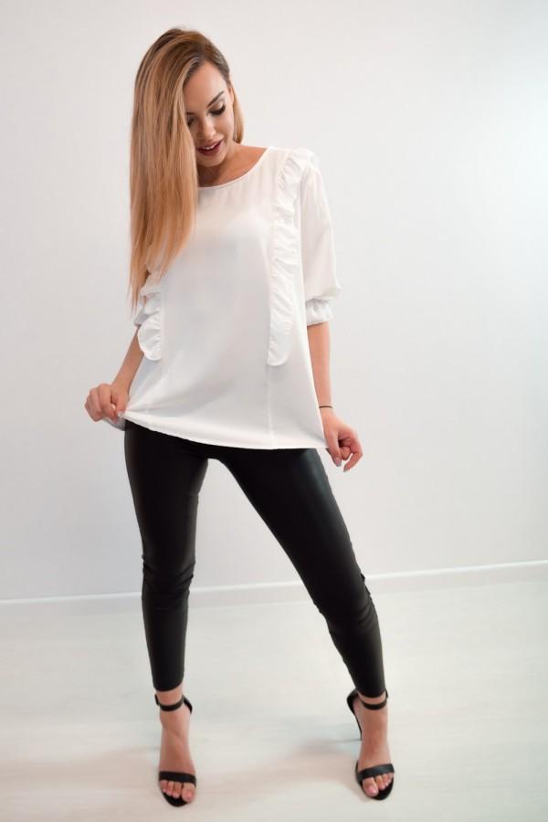 Bluzka guziczki na plecach biała 3
