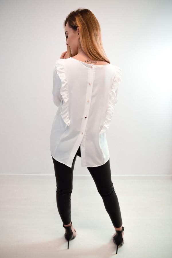 Bluzka guziczki na plecach biała 7