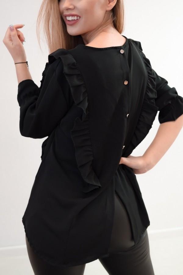 Bluzka guziczki na plecach czarna