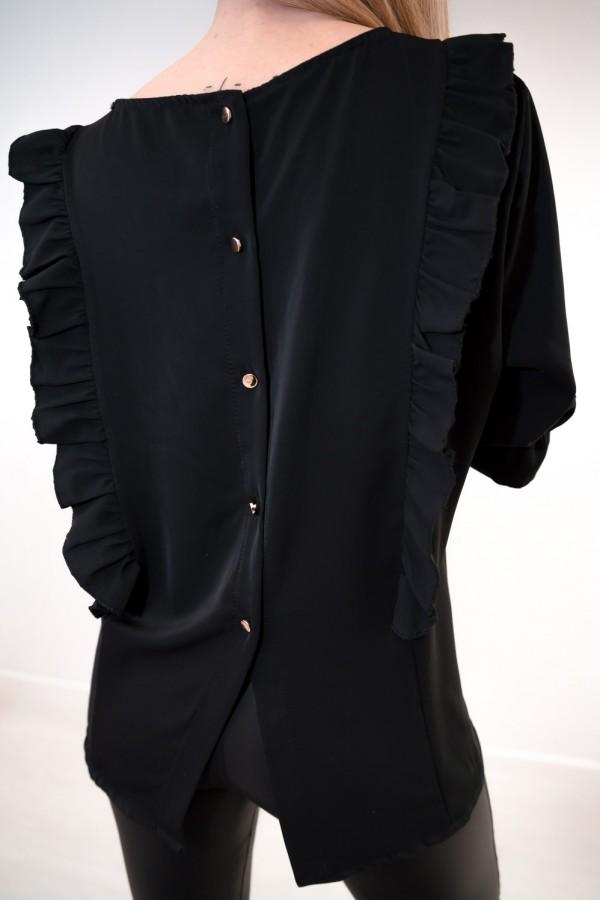 Bluzka guziczki na plecach czarna 3