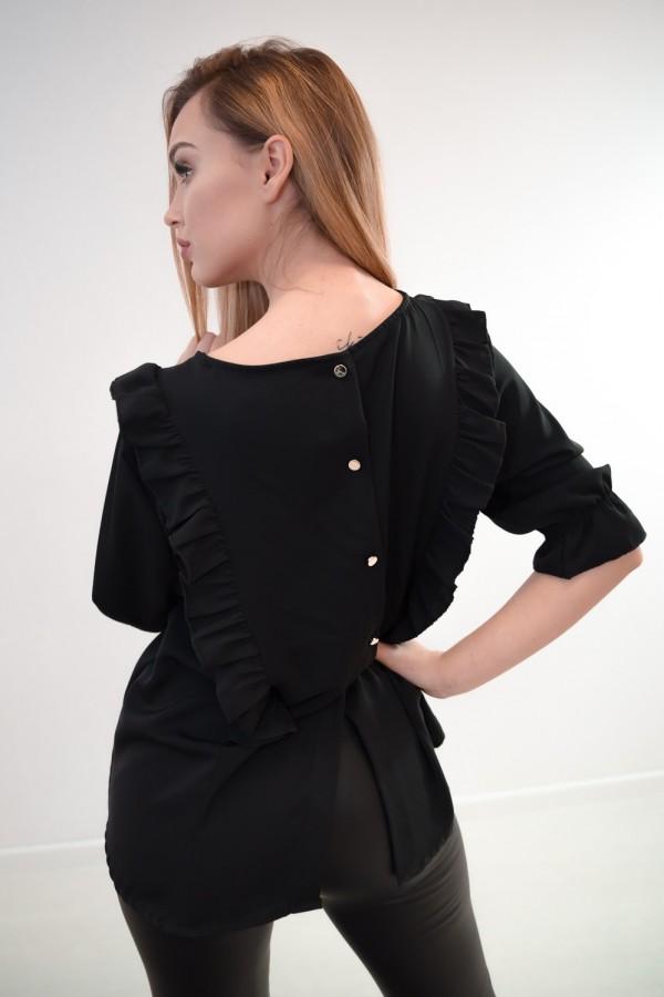 Bluzka guziczki na plecach czarna 9