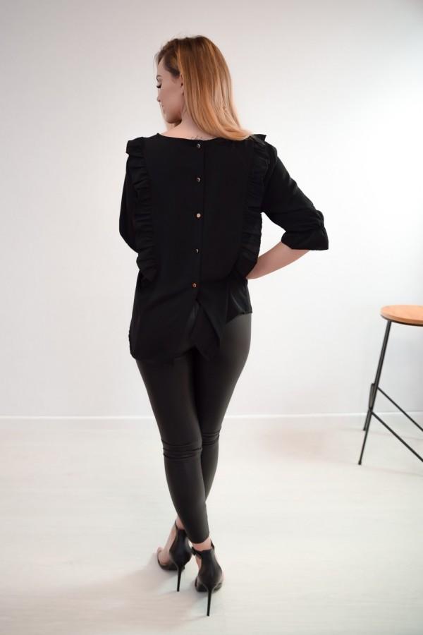 Bluzka guziczki na plecach czarna 10