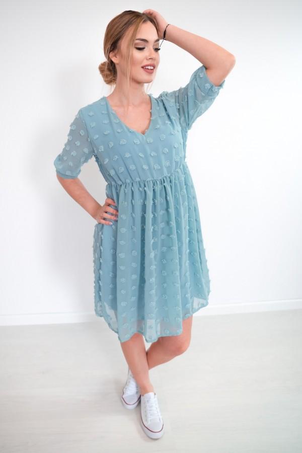 sukienka lekka kropki morska 1