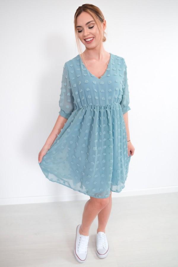 sukienka lekka kropki morska 2