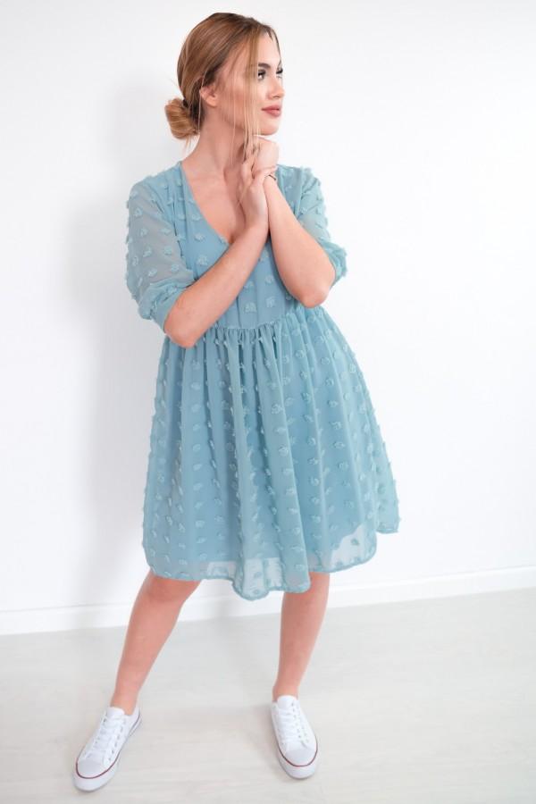 sukienka lekka kropki morska 4