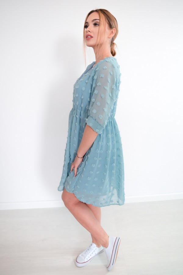 sukienka lekka kropki morska 3