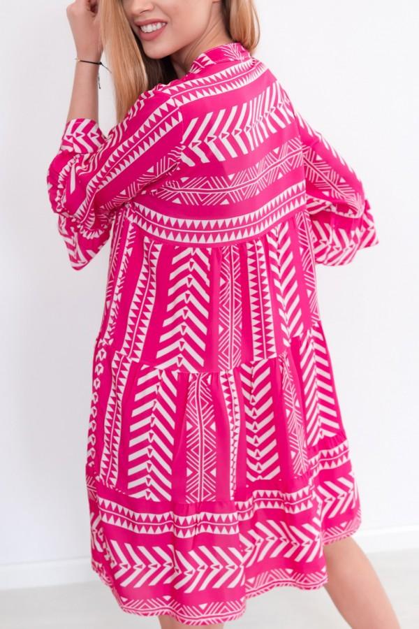 sukienka aztec różowa