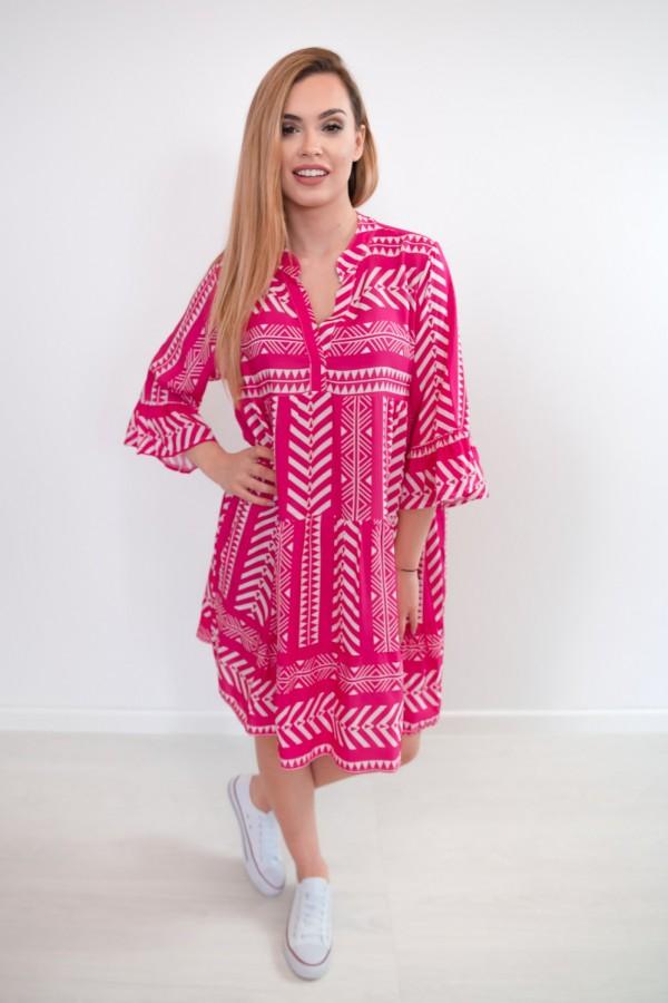 sukienka aztec różowa 1