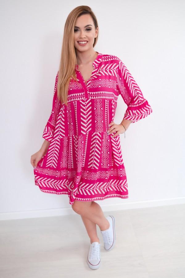 sukienka aztec różowa 2