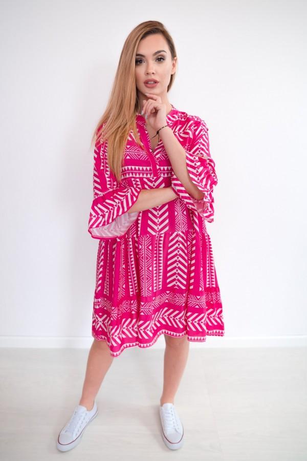 sukienka aztec różowa 3