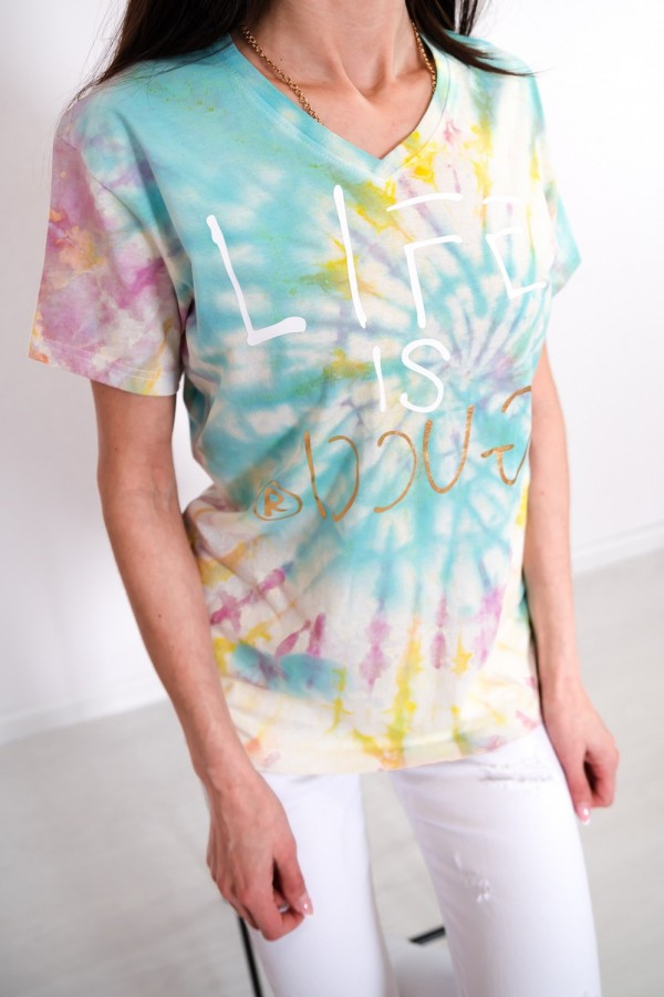 T-shirt barwiony