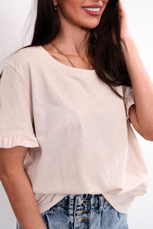 T-shirt z falbanką