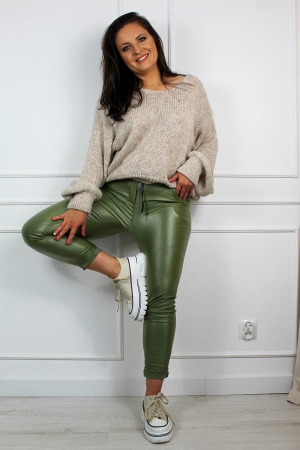Spodnie woskowane zieleń Siren