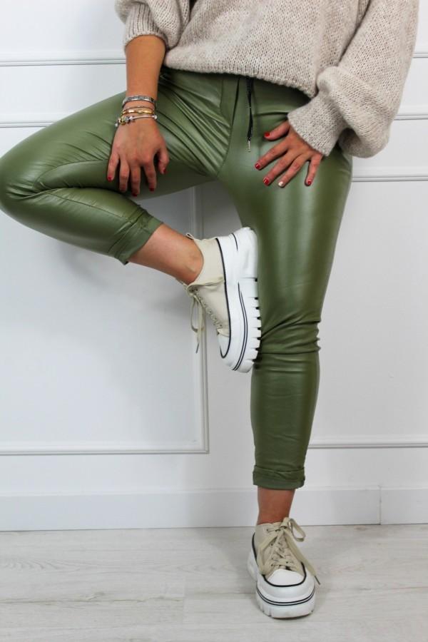 Spodnie woskowane zieleń Siren 1