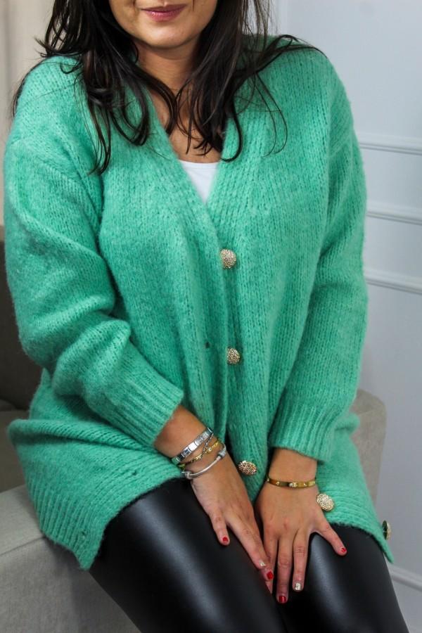 Kardigan guziczki zieleń Vogue