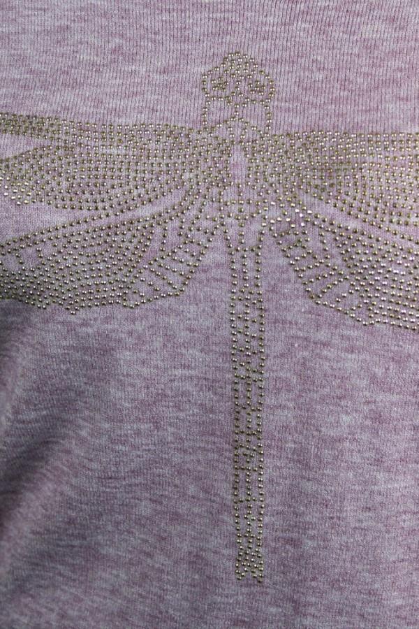Bluzka dzianinowa lila Dragonfly 2