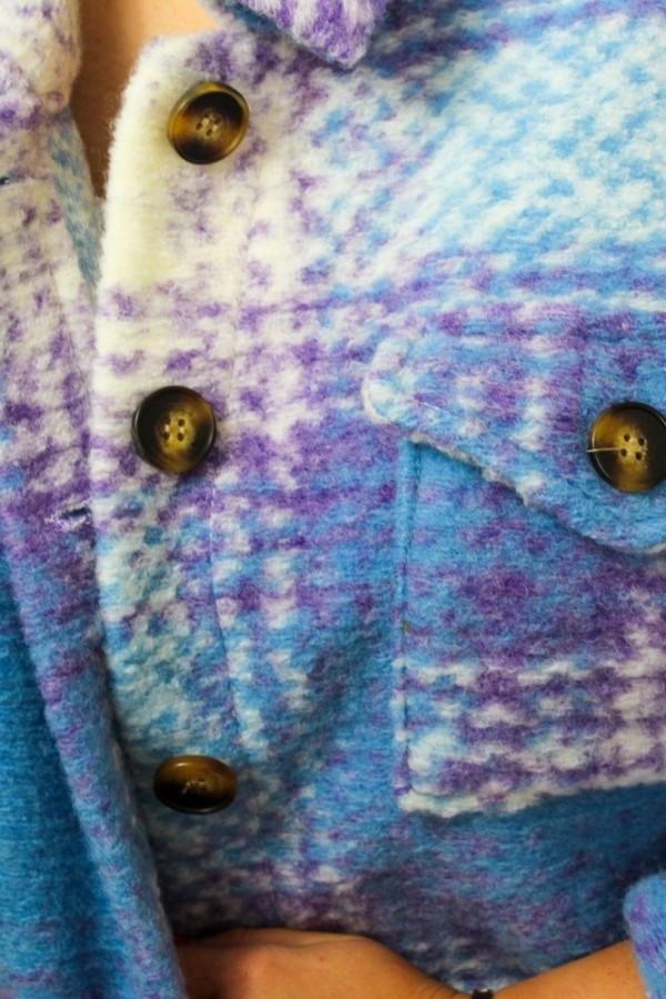 Koszula kurtka krata niebieska Unique 4